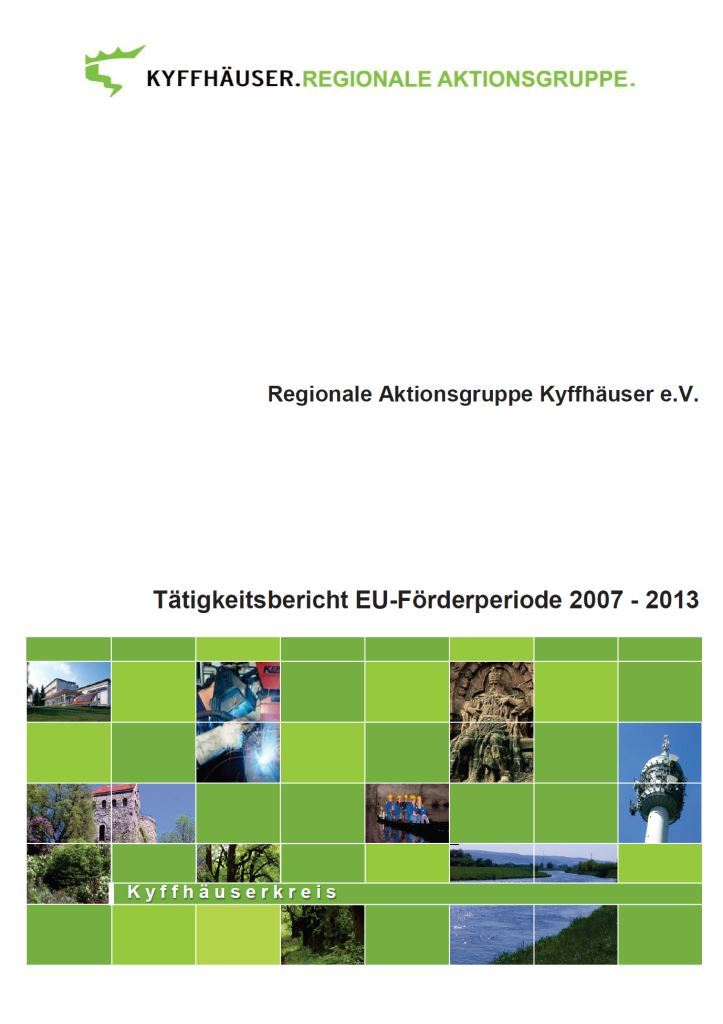 Tätigkeitsbericht RAG Kyffhäuser - Deckblatt